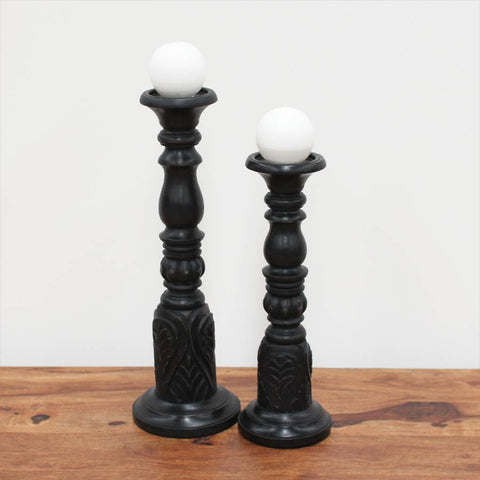 chateau black candle holder 2 sizes