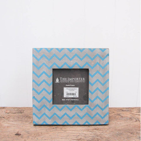 grey chevron photo frame