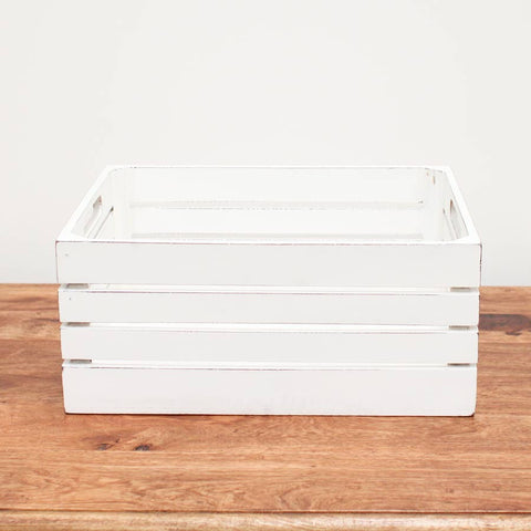 large organiser crate whitewash