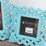 geometric turquoise photo frame 2 sizes
