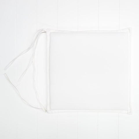 White Outdoor Seat Cushion