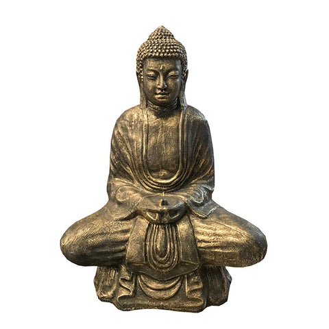 buddha-lotus-80cm-black-gold