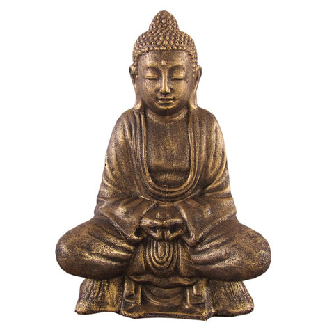Buddha Lotus 40cm Black Gold