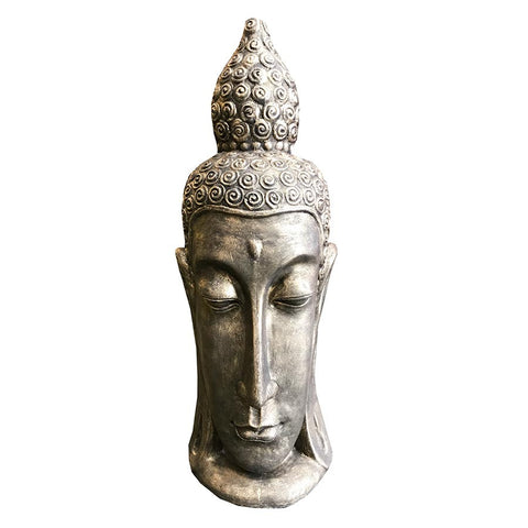 Long Head Buddha Head 90cm Black Gold