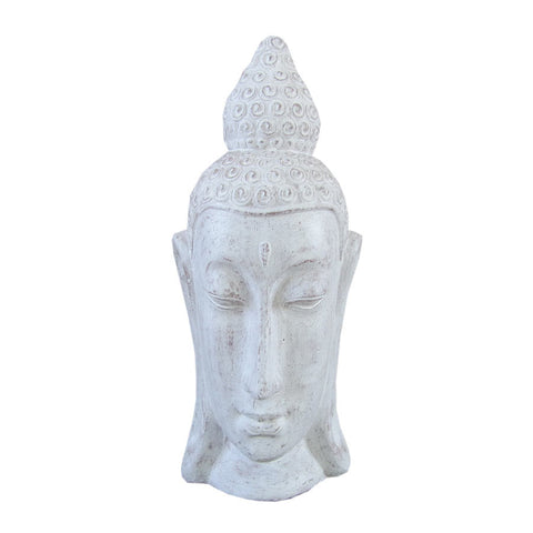 Long Head Buddha Head 90cm White