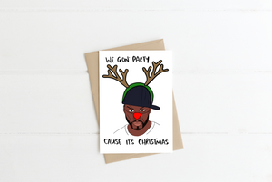 50 Cent Christmas Greeting Card
