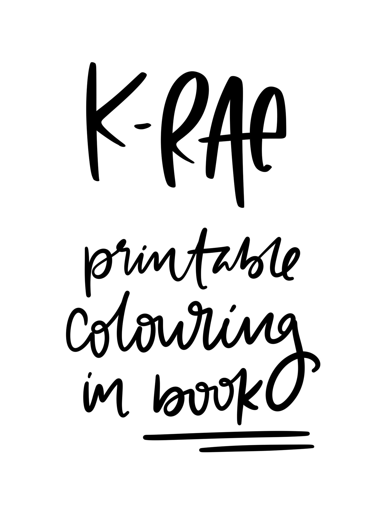 Printable Colouring Book - Pay What You Want