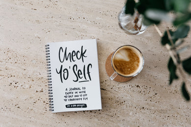 Check Yo'Self Diary - Rad Creativity Diary for Grownups
