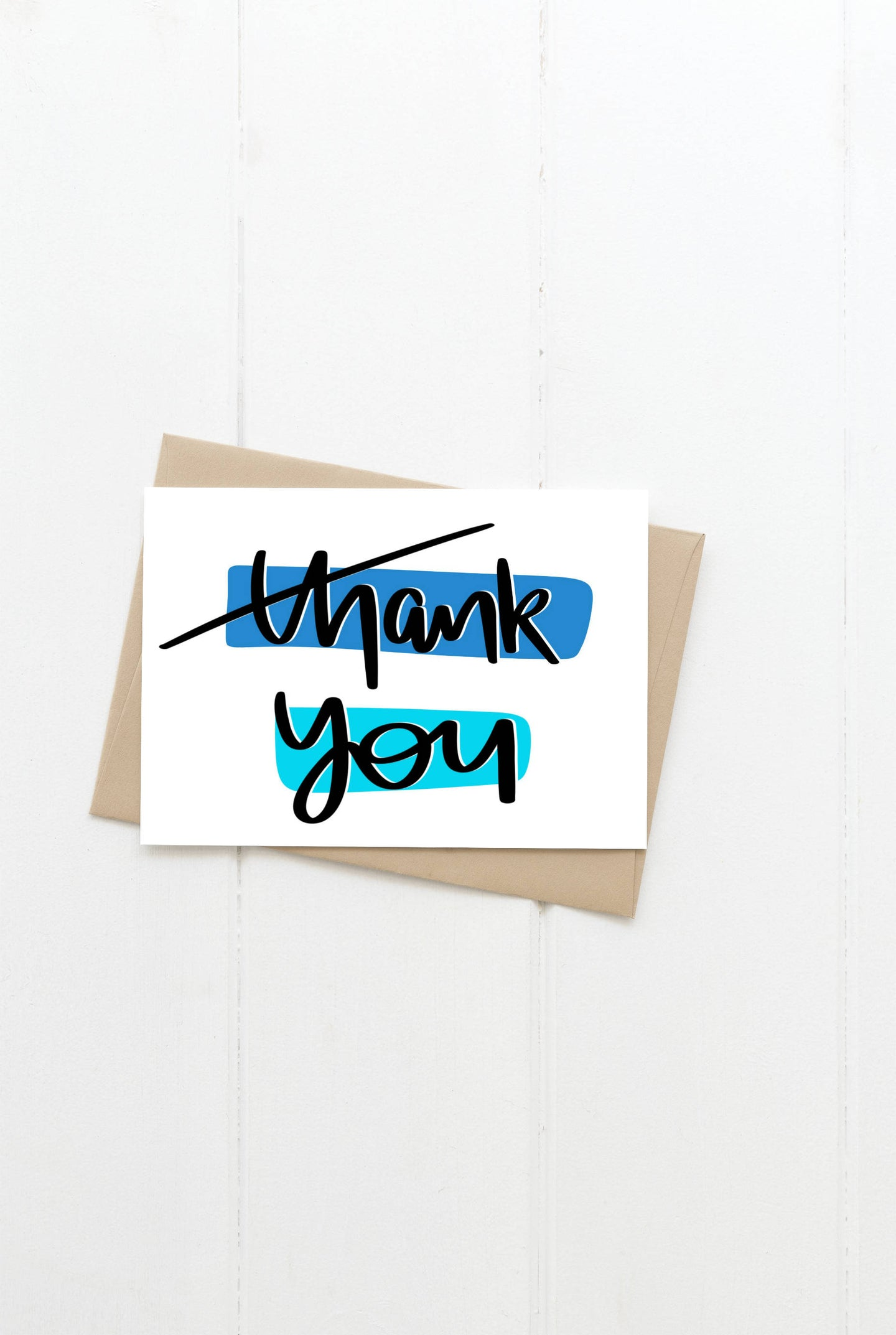 Thank You Blue Greeting Card