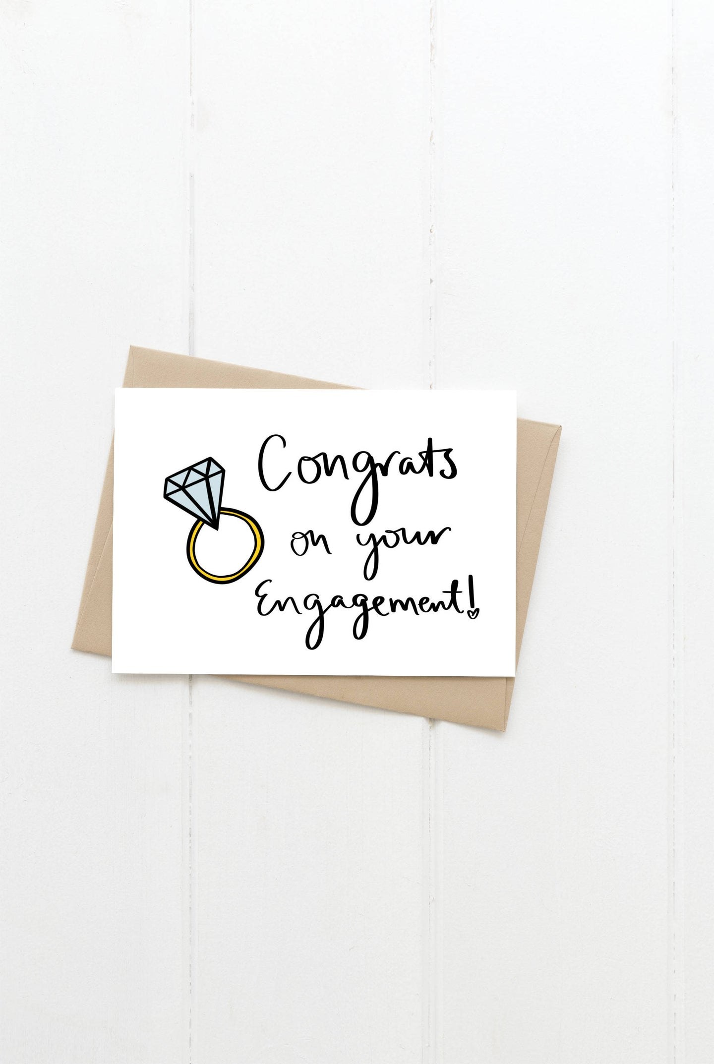 Congrats On Your Engagement Greeting Card