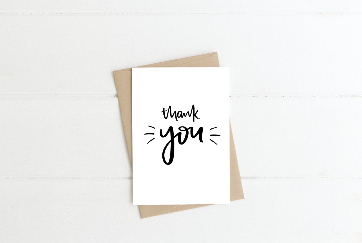 Thank You Monochrome Greeting Card
