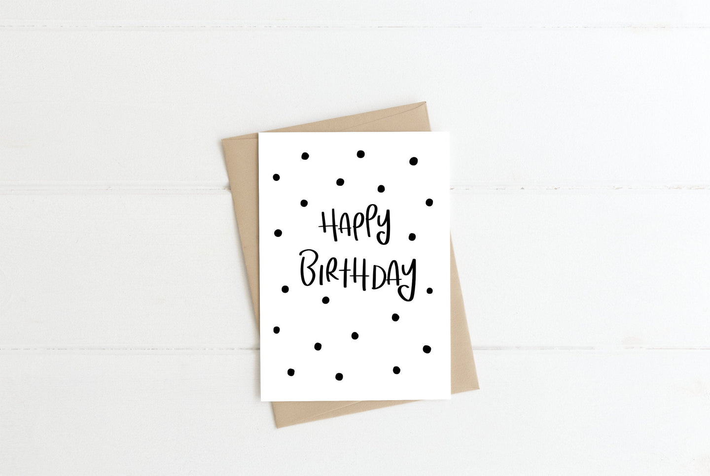 Happy Birthday Spots Greeting Card