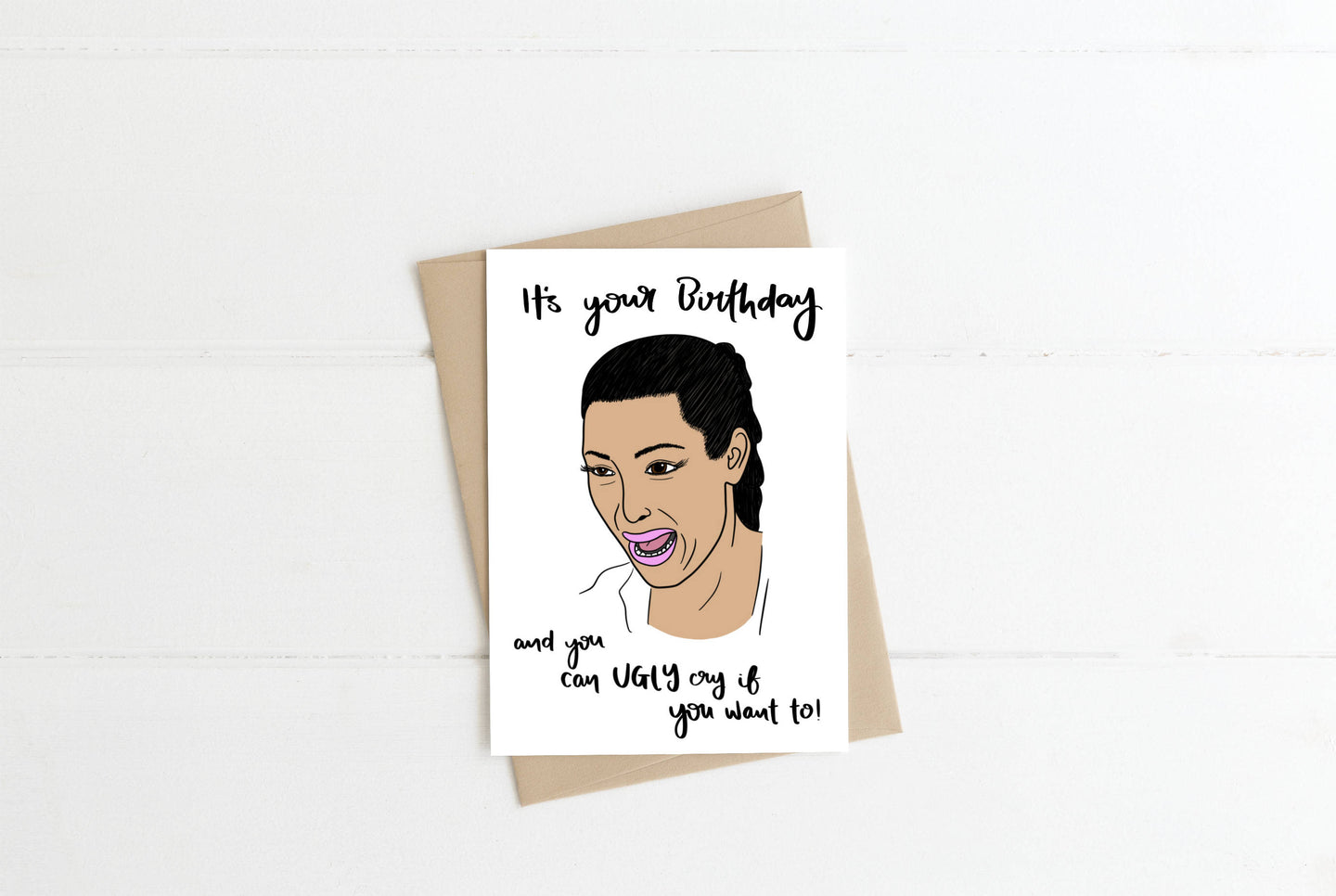 Kim Kardashian Greeting Card