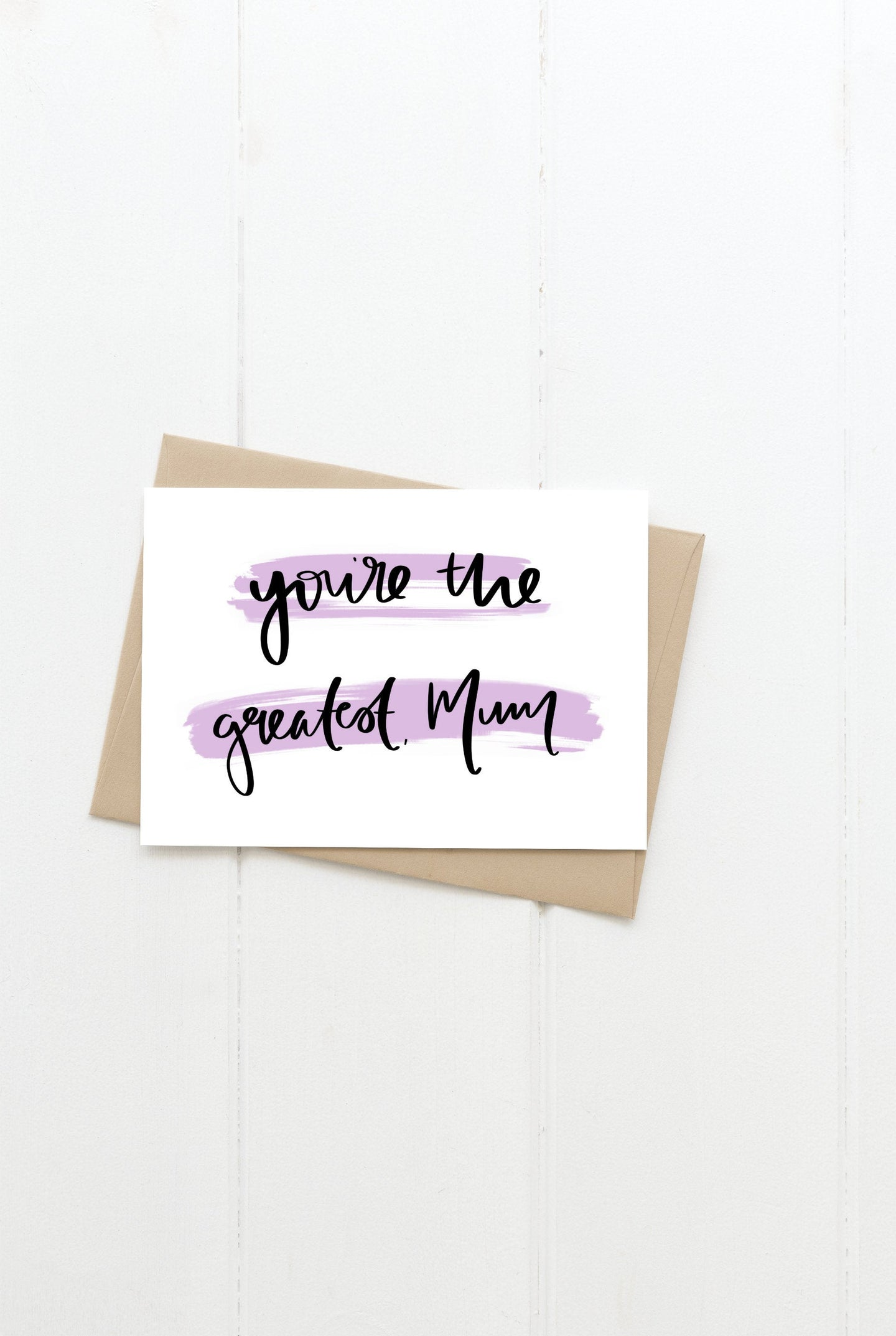 Greatest Mum Greeting Card