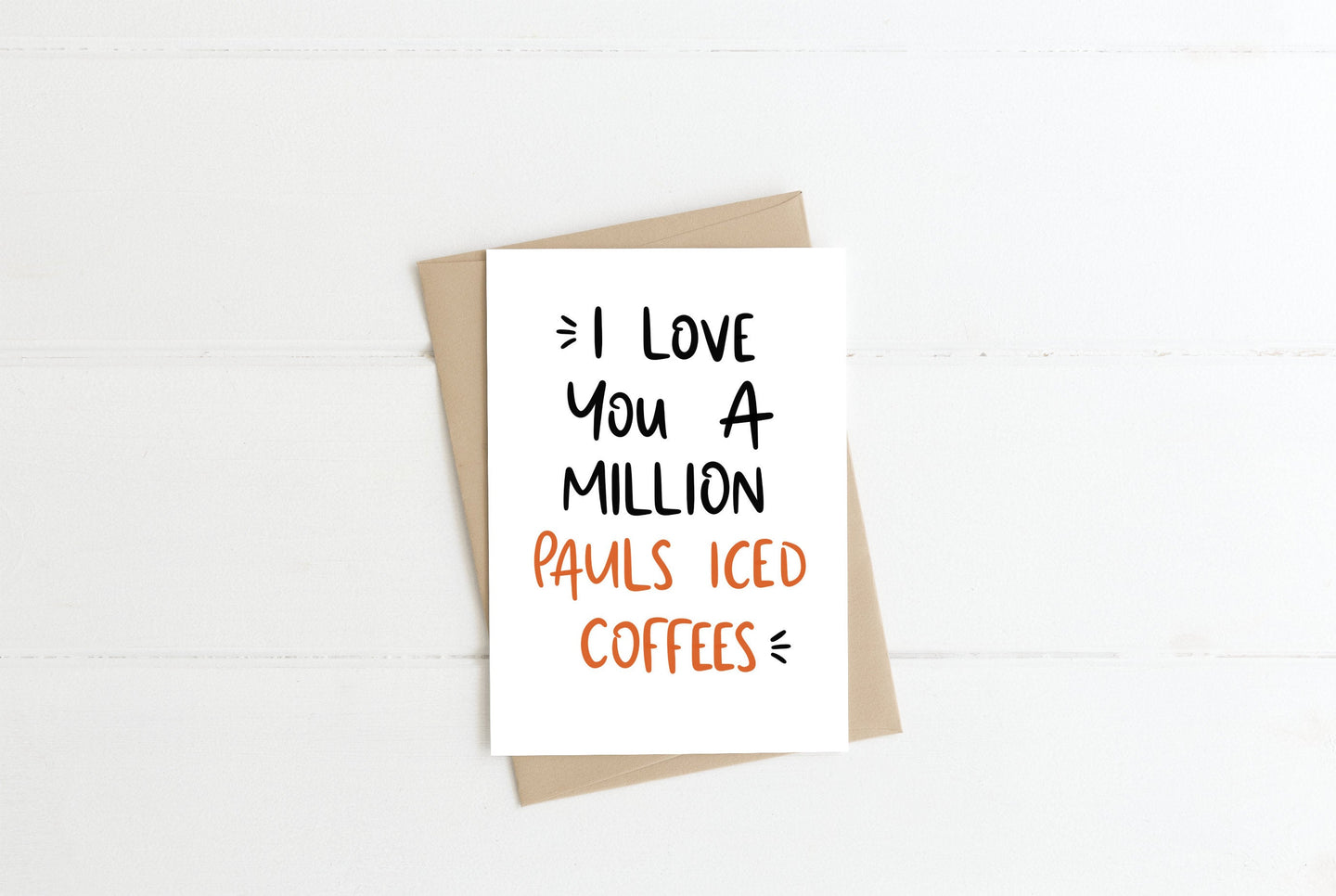 Iced Coffee Greeting Card