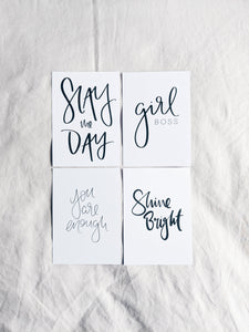Motivational Vision Board Mini Prints - Pack of 4