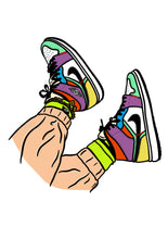 Load image into Gallery viewer, Sneakers Bold Print