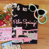 Palm Springs Ladies Black T shirt