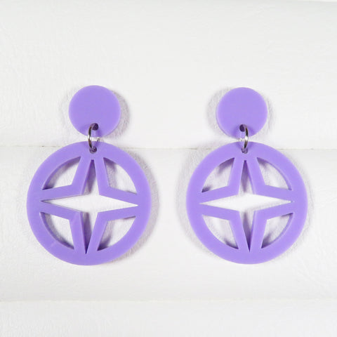 Pastel Purple Breeze Block Dangle Earrings