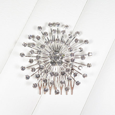 Atomic Starburst Clear Crystal Hair Comb
