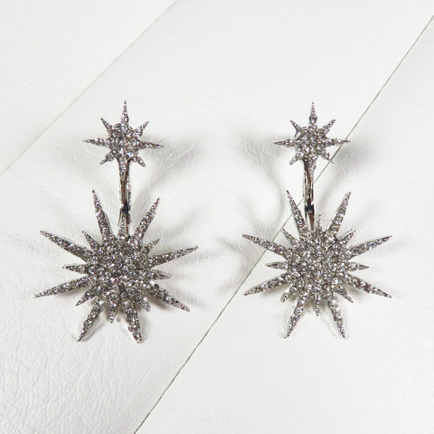 Pin up rockabilly 1950s crystal starburst earrings by Bel Air Baby