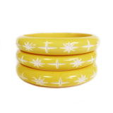 Narrow Pastel Lemon Starburst Bangle