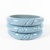 Carved Floral Swirl Bangle | Bel Air Baby
