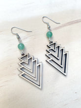 Load image into Gallery viewer, Wooden Triangle Earrings