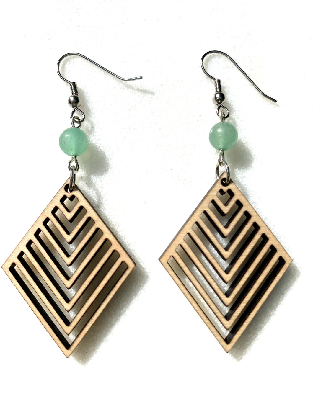 Wooden Chevron Earrings