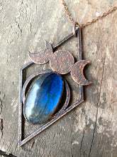 Load image into Gallery viewer, ABRACADABRA Moon Goddess Labradorite Necklace