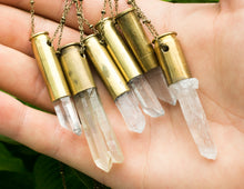 Load image into Gallery viewer, Quartz Crystal Bullet Necklace