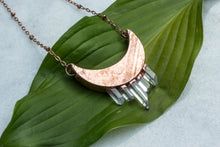 Load image into Gallery viewer, ABRACADABRA Quartz Crescent Moon Necklace