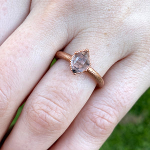 ABRACADABRA Herkimer Diamond Solitaire Ring