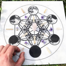 Load image into Gallery viewer, La Luna Marble Crystal Grid