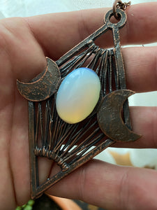 ABRACADABRA Moon Magic Woven Opalite Necklace