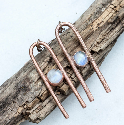 Moonstone Arch Earrings