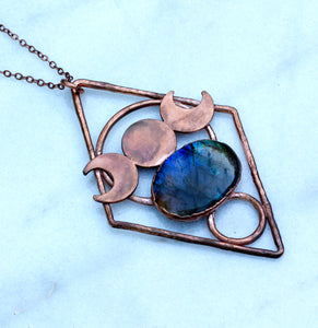 Moon Goddess Labradorite Necklace