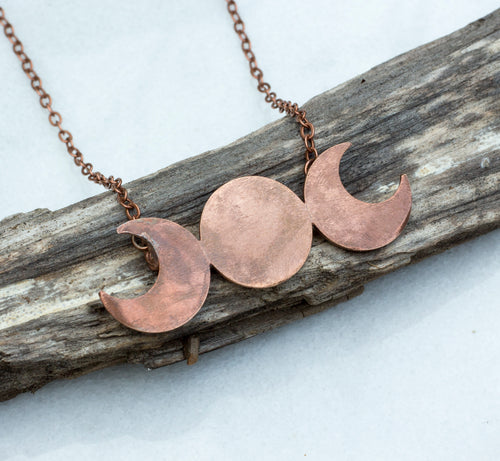 Moon Goddess Copper Necklace