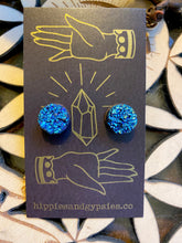 Load image into Gallery viewer, ABRACADABRA Titanium Druzy Studs