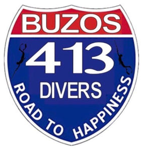 413 Divers sticker