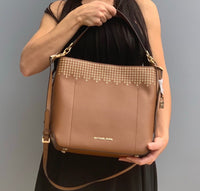 Michael kors Haves Lugg/Ballet Large Bucket shoulder Leather