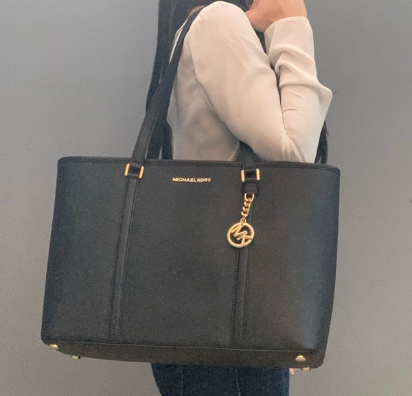 Michael Kors Sady Large Top ZIP Tote Black
