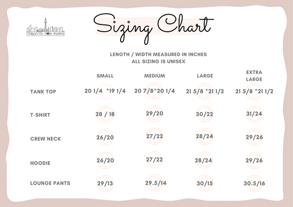 sizing guide chart