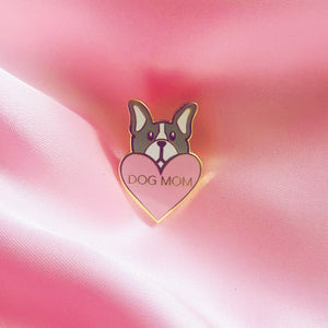 Heart Dog Mom Pin - torontodogmoms