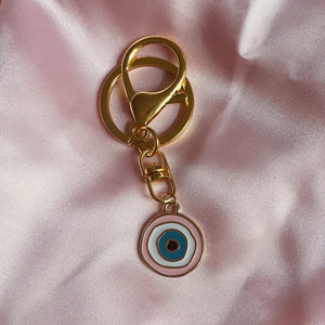 Charm & Key Chain Set - Evil Eye Pink - torontodogmoms