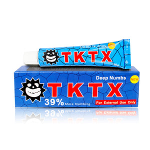 VIP TKTX Blue 39% Numbing Tattoo Body Anesthetic Fast Numb Cream Semi Permanent Skin Body 10g