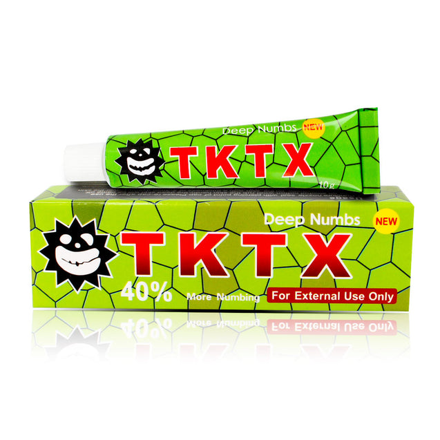 TKTX Numbing Cream Australia Stock 4 PCS Green 40% Skin Deep Anesthetic Fast  Semi Permanent Skin Body 10g Duration 3-5 hours