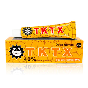 VIP Yellow 40% TKTX Numbing Tattoo Body Anesthetic Fast Numb Cream Semi Permanent Skin Body 10g