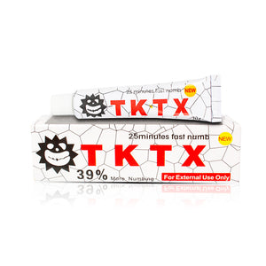 White 39% TKTX Numbing Tattoo Body Anesthetic Fast Numb Cream Semi Permanent Skin Body 10g