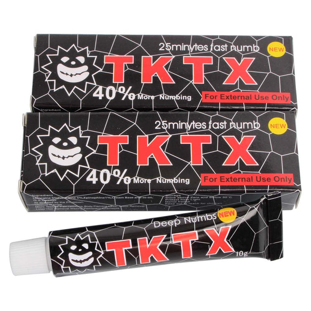 VIP 40% Black TKTX Numbing Tattoo Body Anesthetic Fast Numb Cream Semi Permanent Skin Body 10g